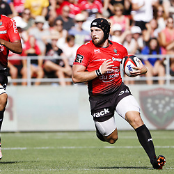 Jean Monribot of Toulon  during the Top 14 match between RC Toulon and Pau at Felix Mayol Stadium on August 27, 2017 in Toulon, France. (Photo by Guillaume Ruoppolo/Icon Sport)