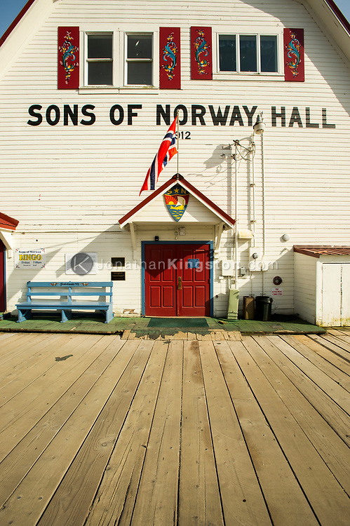The Sons of Norway Hall in Petersburg, Alaska.