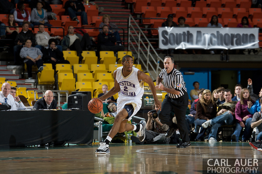 November 27, 2008: Western Carolina's Kendall Russell (2) in the final game in the opening round of the 2008 Great Alaska Shootout at the Sullivan Arena