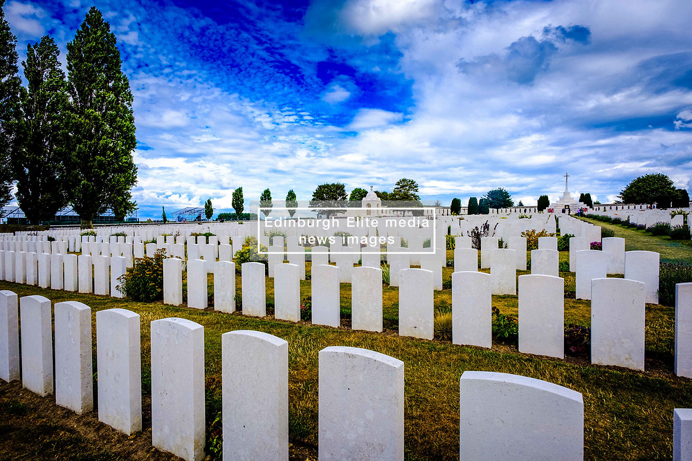 Tyne Cot Commonwealth War Graves Cemetery and Memorial to the Missing is a Commonwealth War Graves Commission (CWGC) burial ground for the dead of the First World War in the Ypres Salient on the Western Front. It is the largest cemetery for Commonwealth forces in the world, for any war. The cemetery and its surrounding memorial are located outside of Passchendale, near Zonnebeke in Belgium.<br /> <br /> (c) Andrew Wilson   Edinburgh Elite media
