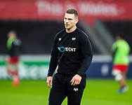 George North of Ospreys during the pre match warm up<br /> <br /> Photographer Simon King/Replay Images<br /> <br /> European Rugby Champions Cup Round 5 - Ospreys v Saracens - Saturday 11th January 2020 - Liberty Stadium - Swansea<br /> <br /> World Copyright © Replay Images . All rights reserved. info@replayimages.co.uk - http://replayimages.co.uk