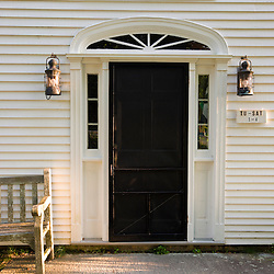 Chairs outside the Mount Desert Island Historical Society Museum in Somesville, Maine.