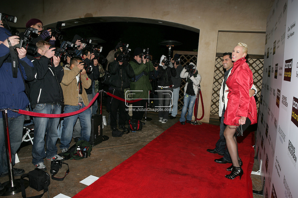 9th February 2009, Beverly Hills, California. Actress Brigitte Nielsen arrives at Bondi Blonde's Style Mansion International Party, which was hosted by singer Katy Perry. PHOTO © JOHN CHAPPLE / REBEL IMAGES.tel: +1-310-570-910