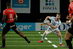 April 8, 2018 - Nanterre, Hauts de Seine, France - Racing 92 Fullback LOUIS DUPICHOT in action during the French rugby championship Top 14 match between Racing 92 and RC Toulon at U Arena Stadium in Nanterre - France..Racing 92 Won  17-13. (Credit Image: © Pierre Stevenin via ZUMA Wire)