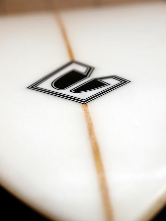 Beach Beat surfboard close-up details.