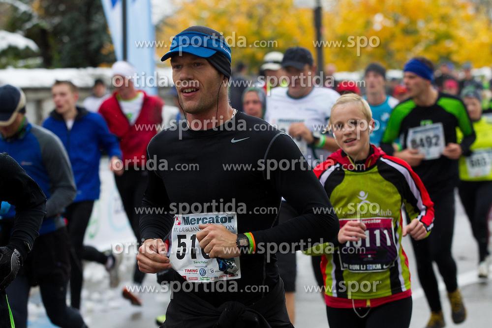 Petar Savic running during 17th Ljubljana Marathon 2012 on October 28, 2012 in Ljubljana, Slovenia. (Photo By Vid Ponikvar / Sportida)
