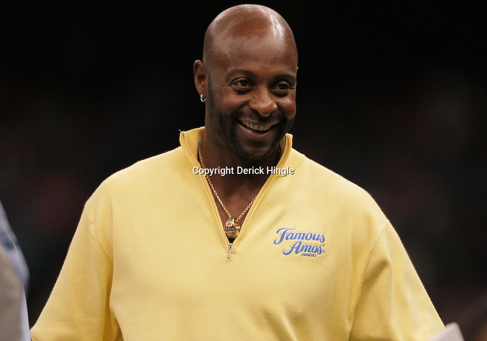 2008 November, 29: Former NFL star Jerry Rice on the sideline during the 35th annual State Farm Bayou Classic between Southern University and Grambling State University at the Louisiana Superdome in New Orleans, LA.  .