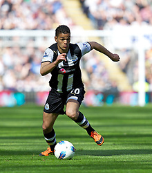 NEWCASTLE-UPON-TYNE, ENGLAND - Sunday, April 1, 2012: Newcastle United's Hatem Ben Arfa during the Premiership match against Liverpool at St James' Park. (Pic by Vegard Grott/Propaganda)