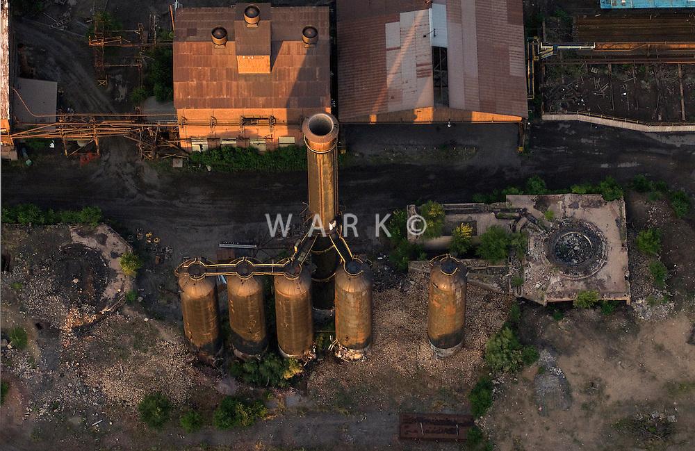 ruins of blast furnace, CF&I