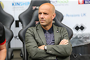 MK Dons manager, Paul Tisdale during the EFL Sky Bet League 2 match between Milton Keynes Dons and Forest Green Rovers at stadium:mk, Milton Keynes, England on 15 September 2018.