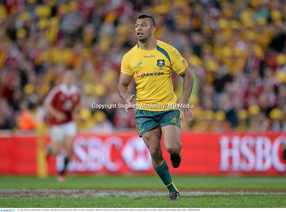 22 June 2013; Kurtley Beale, Australia. British & Irish Lions Tour 2013, 1st Test, Australia v British & Irish Lions, Suncorp Stadium, Brisbane, Queensland, Australia. Picture credit: Stephen McCarthy / SPORTSFILE