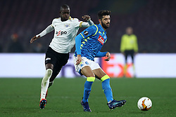 February 21, 2019 - Rome, Italy - SSC Napoli v FC Zurich - UEFA Europa League Round of 32.Assan Ceesay of Zurich and Sebastiano Luperto of Napoli at San Paolo Stadium in Naples, Italy on February 21, 2019. (Credit Image: © Matteo Ciambelli/NurPhoto via ZUMA Press)