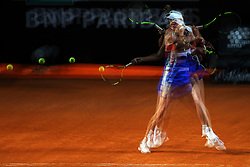 May 17, 2018 - Rome, Rome, Italy - 17th May 2018, Foro Italico, Rome, Italy; Italian Open Tennis; Caroline Wozniacki (DEN) in action during a match against Anastasija Sevastova (LAT) (picture taken with multiple exposure)  Credit: Giampiero Sposito/Pacific Press  (Credit Image: © Giampiero Sposito/Pacific Press via ZUMA Wire)