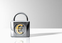 Padlock with Euro Symbol