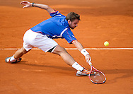 Stanislas Wawrinka of Switzerland competes in men's singles in the third round while Day Seventh during The French Open 2013 at Roland Garros Tennis Club in Paris, France.<br /> <br /> France, Paris, June 01, 2013<br /> <br /> Picture also available in RAW (NEF) or TIFF format on special request.<br /> <br /> For editorial use only. Any commercial or promotional use requires permission.<br /> <br /> Mandatory credit:<br /> Photo by © Adam Nurkiewicz / Mediasport