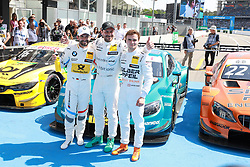 May 5, 2018 - Germany - Motorsports: DTM race Hockenheimring, Saison 2018 - 1. Event Hockenheimring, GER, Timo Glock, ( D, BMW Team RMG ), Gary Paffett ( GBR, Mercedes HWA AG ),  Lucas Auer ( AUT, Mercedes HWA AG  (Credit Image: © Hoch Zwei via ZUMA Wire)