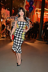 DAISY LOWE at 'The World's First Fabulous Fund Fair' in aid of the Naked Heart Foundation hosted by Natalia Vodianova and Karlie Kloss at The Roundhouse, Chalk Farm Road, London on 24th February 2015.