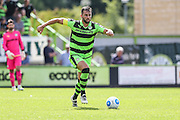 Forest Green Rovers Aarran Racine (21) on the ball during the Vanarama National League match between Forest Green Rovers and Gateshead at the New Lawn, Forest Green, United Kingdom on 13 August 2016. Photo by Shane Healey.