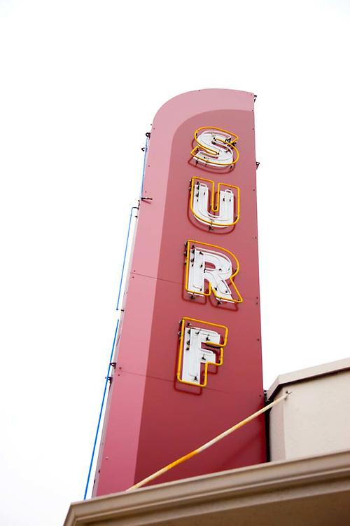Surf sign in Santa Cruz