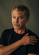 Alberto Godoy, Cuban painter, photographed in his Houston, TX gallery.<br /> Photographed by editorial photographer Nathan Lindstrom.