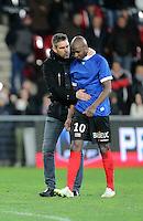 Joie Jocelyn GOURVENNEC / Younousse SANKHARE - 10.01.2015 - Guingamp / Lens - 20eme journee de Ligue 1<br />Photo : Vincent Michel / Icon Sport