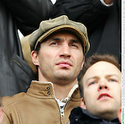 Heavyweight Champion Wladimir Klitschko watches FC St Pauli from the stands. Hamburg, Germany, 8th Feb 2009.