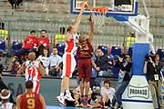 DESCRIZIONE : Torino Coppa Italia Final Eight 2012 Quarto di Finale Scavolini Siviglia Pesaro Reyer Venezia<br /> GIOCATORE : Marco Cusin<br /> SQUADRA :  Scavolini Siviglia<br /> EVENTO : Suisse Gas Basket Coppa Italia Final Eight 2012<br /> GARA : Scavolini Siviglia Pesaro Reyer Venezia<br /> DATA : 17/02/2012<br /> CATEGORIA : stoppata<br /> SPORT : Pallacanestro<br /> AUTORE : Agenzia Ciamillo-Castoria/GiulioCiamillo<br /> Galleria : Final Eight Coppa Italia 2012<br /> Fotonotizia : Torino Coppa Italia Final Eight 2012 Quarto di Finale Scavolini Siviglia Pesaro Reyer Venezia<br /> Predefinita :