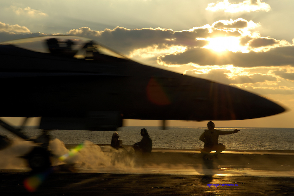 F-18 cat shot USS Teddy Roosevelt