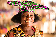Herero local lady in traditional dress, Namibia