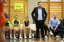 Damir Grgic, head coach of ZKK Cinkarna Celje in action during basketball match between ZKK Cinkarna Celje (SLO) and MBK Ruzomberok (SVK) in Round #6 of Women EuroCup 2018/19, on December 13, 2018 in Gimnazija Celje Center, Celje, Slovenia. Photo by Urban Urbanc / Sportida