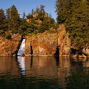 Three Hole Point in Aialik Bay in Kenai Fjords National Park Alaska