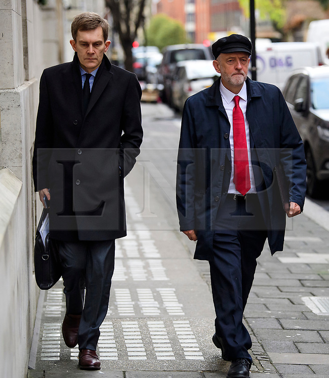 © Licensed to London News Pictures. FILE PICTURE: 10/01/2017. London, UK. Labour Party leader JEREMY CORBYN (right) seen in London with Labour Party's Executive Director of Strategy and Communications SEUMAS MILNE (Left).. A BBC Panorama documentary, focusing on alleged anti semitism in the Labour Party is due to run this evening. Photo credit: Ben Cawthra/LNP