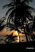 sunrise, Kanantik Resort, Stann Creek District, near Dangriga, Belize, Central America ( Caribbean Sea )