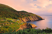 Sunset on Cape Breton Island. <br /> <br /> Meat Cove<br /> Nova Scotia<br /> Canada