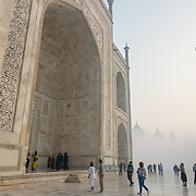 People at Taj Mahal, India