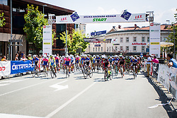 Start of cycling race 48th Grand Prix of Kranj 2016 / Memorial of Filip Majcen, on July 31, 2016 in Kranj centre, Slovenia.  Photo by Ziga Zupan / Sportida