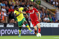 Callum O'Dowda of Bristol City runs with the ball past Alexander Tettey of Norwich City - Mandatory by-line: Robbie Stephenson/JMP - 16/08/2016 - FOOTBALL - Carrow Road - Norwich, England - Norwich City v Bristol City - Sky Bet Championship