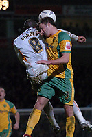 Photo: Ashley Pickering.<br /> Norwich City v Blackpool. The FA Cup. 13/02/2007.<br /> Norwich captain Adam Drury (R) and Adrian Forbes of Blackpool