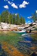 The Tuolumne River, Tuolumne Meadows area, Yosemite National Park, California USA