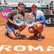 Roma 20/05/2018 Foro Italico <br /> Internazionali BNL d'Italia 2018 <br /> finale doppio femminile<br /> le vincitrici e Demi Schuurs e Ashleigh Barty