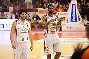 DESCRIZIONE : Pistoia Lega serie A 2013/14  Giorgio Tesi Group Pistoia Pesaro<br /> GIOCATORE : KYLE GIBSON, guido meini<br /> CATEGORIA : mani<br /> SQUADRA : Giorgio Tesi Group Pistoia<br /> EVENTO : Campionato Lega Serie A 2013-2014<br /> GARA : Giorgio Tesi Group Pistoia Pesaro Basket<br /> DATA : 24/11/2013<br /> SPORT : Pallacanestro<br /> AUTORE : Agenzia Ciamillo-Castoria/M.Greco<br /> Galleria : Lega Seria A 2013-2014<br /> Fotonotizia : Pistoia  Lega serie A 2013/14 Giorgio  Tesi Group Pistoia Pesaro Basket<br /> Predefinita :