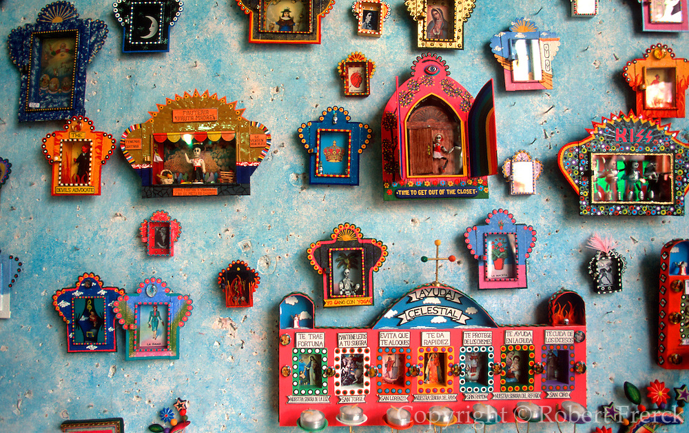 "MEXICO, SAN MIGUEL ALLENDE ""niches"" traditional small metal frames"