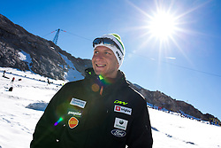 Damir Eibel during Training camp of Slovenian Cross country Ski team on October 7, 2014 in Dachstein Getscher, Austria. (Photo By Matic Klansek Velej/ Sportida)