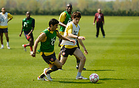 Photo: Richard Lane.<br />Arsenal Training Session. The Barclays Premiership. 11/05/2006.<br />Jose Antonio Reyes (L) and Francesc Fabregas battle during training.