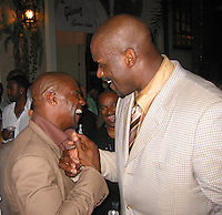 """Terry Crews of TV Show """"Everybody Hates Chris"""" & Shaquille O'Neal .Shaquille O'Neal Kick Off Event.Casa Casaurina aka (Versace Mansion).Miami Beach, FL, USA.Thursday, February 01, 2007.Photo By Celebrityvibe.com.To license this image please call (212) 410 5354; or.Email: celebrityvibe@gmail.com ;.Website: www.celebrityvibe.com"""