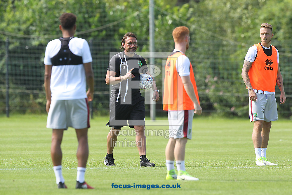 Norwich Head Coach Daniel Farke during the Norwich City Pre-Season Training session at Hotel Klosterpforte, Harsewinkel, Germany<br /> Picture by Paul Chesterton/Focus Images Ltd +44 7904 640267<br /> 18/07/2017