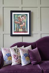 Interior of Machrie Golf Links hotel on Islay. In Inner Hebrides, Scotland, UK