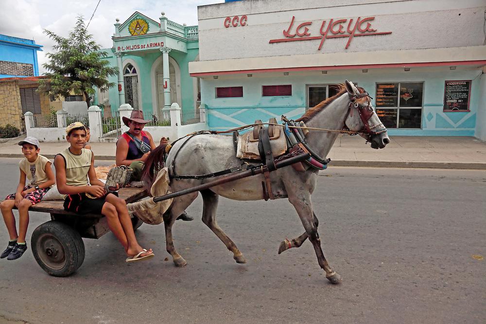 Horse and cart in Manicaragua, Villa Clara, Cuba.