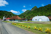 Afono village in American Samoa, South Pacific