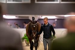 ANDERSEN Daniel Bachmann (DEN), Blue Hors Zack<br /> Göteborg - Gothenburg Horse Show 2019 <br /> Vet-Check Dressurpferde<br /> Longines FEI Jumping World Cup™ Final and FEI Dressage World Cup™ Final<br /> 04. April 2019<br /> © www.sportfotos-lafrentz.de/Stefan Lafrentz